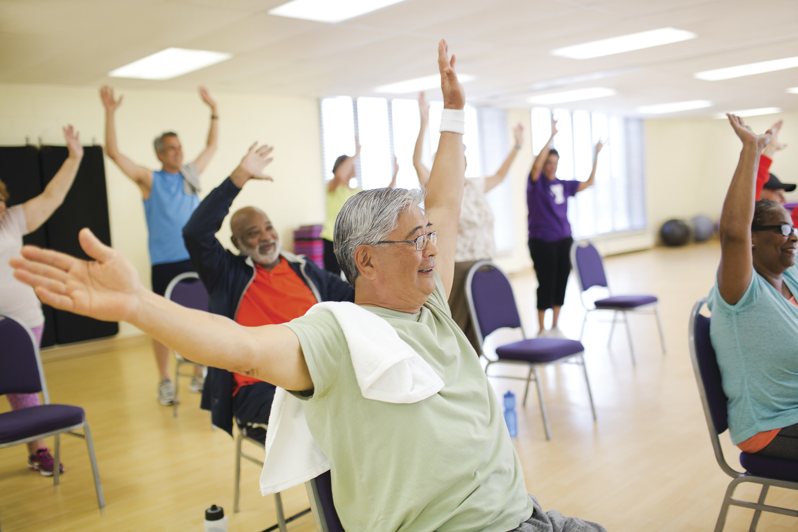 Active Older Adults Exercising